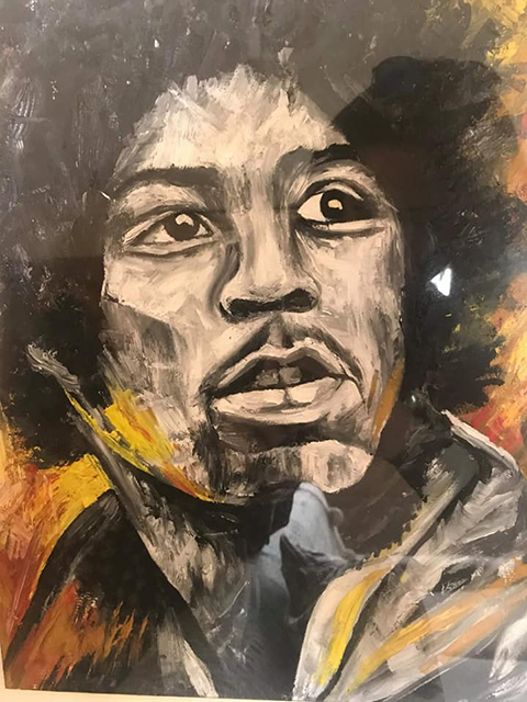 painting of jimi